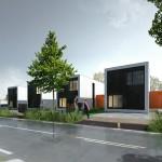 <b>Vue maison modulaire côté rue</b> <br />